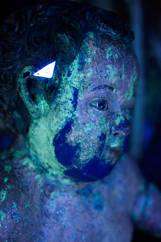 Jesuskind - UV-Fluoreszenaufnahme