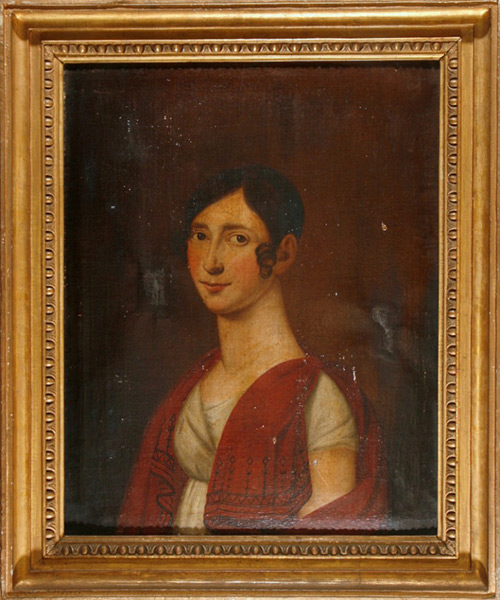 Portrait einer vornehmen Dame - Vor Restaurierung