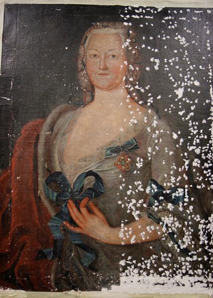 Sophie Wilhelmine von Brandenburg-Kulmbach - Während der Restaurierung