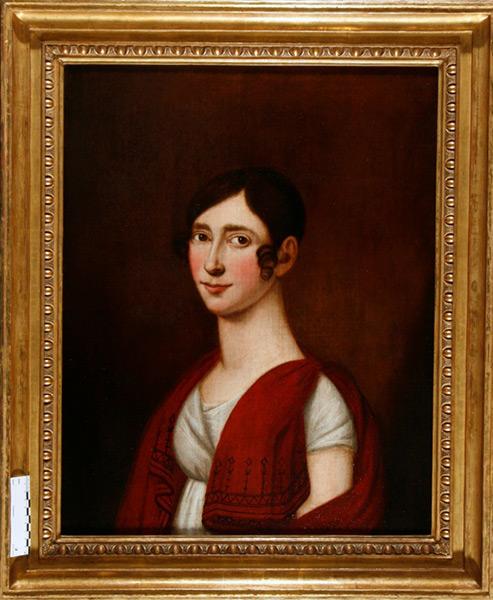 Portrait einer vornehmen Dame - Nach Restaurierung