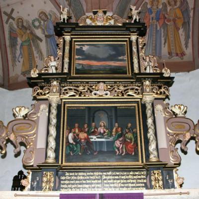 Zustand des Altars nach der Restaurierung