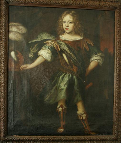 Portrait eines jungen Adeligen - Vor Restaurierung