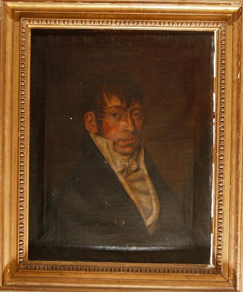 Portrait eines vornehmen Herren - Vor Restaurierung