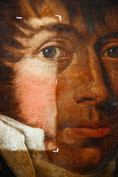 Portrait eines vornehmen Herren - Detail